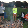 Runners around the campfire