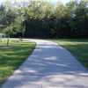 Paved jogging trail